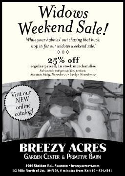 Widows Weekend Sale